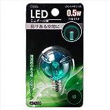 オーム LED電球 ボール電球形 E12 緑 0.5W 43mm OHM LDG1G-H-E12 12C 06-3224