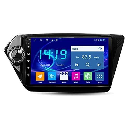 BANNESE Navegador GPS Coche para Kia RIO2 K2 2010-2015 2.5D Pantalla Táctil Sistema De Navegación,Soporte 3G / 4G WiFi, Actualizaciones De Mapas,8 Núcleos GPS para Coche