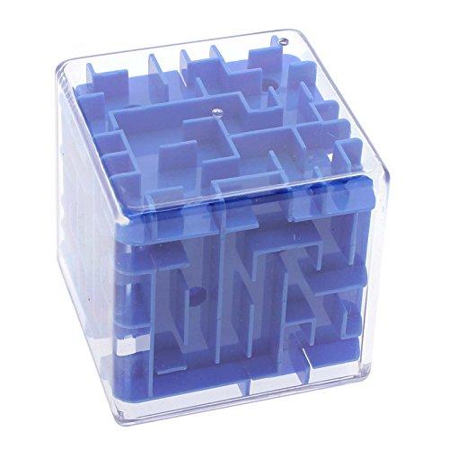 VANKER Adulte Enfant Élégant 3D Dédale Cube Magique Roulement Jeu Puzzle de Défi Bleu