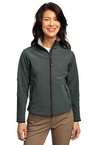 Port Authority® Ladies Glacier® Soft Shell Jacket. L790 Smoke Grey 4XL