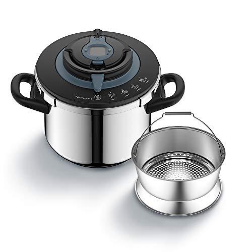 Seb NutriCook P4221417 - Pentola a pressione, 8 l, in acciaio inox, facile da usare, programma di cottura