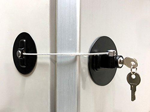 MUIN DL-B Refrigerator Door Lock with 2 Keys - Black
