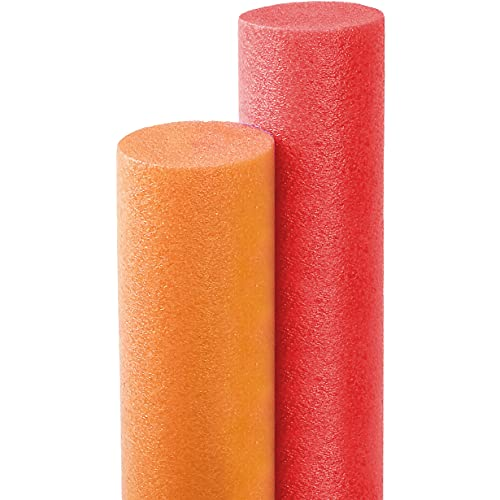 Floating Pool Noodles Foam Tube, Thick Noodles for Floating in The Swimming Pool, 52 Inches Long (Assorted Colors)