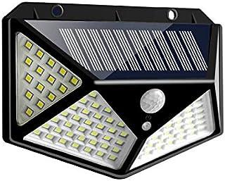 Gulehay 100 luces solares LED para exteriores, luces de seguridad con sensor de movimiento impermeable con 3 modos de ilum...
