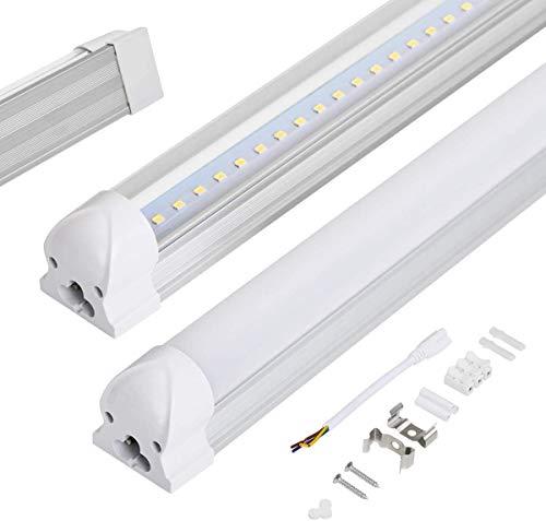 Allesin LED Leuchtstoffröhre 150cm komplett Set T8 LED Röhre mit Fassung, Kaltweiß 6000K 24W 2000lm, LED Lichtleiste, Unterbauleuchte, Röhrenlampe, Schrankleuchte, Milchige Abdeckung