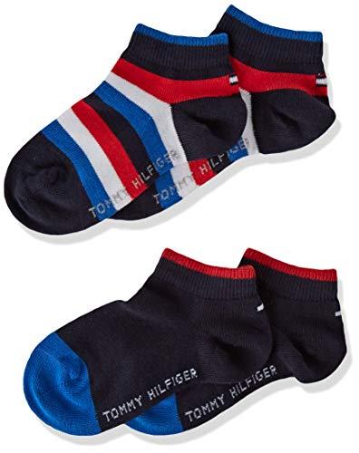 Tommy Hilfiger 354010001, Calcetines para Niños, Azul (Midnight Blue 563) 35-38 (Tamaño del fabricante:035) (Pack de 2