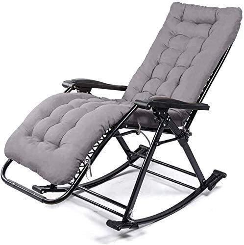 AWJ Chaise Longue reclinabili sedie Pieghevoli per Esterni con poggiatesta per Ufficio Campeggio Spiaggia Patio Piscina Cortile Interni Esterni