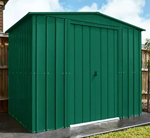 Lotus Heritage Green Metal Apex Roof Shed 8x6