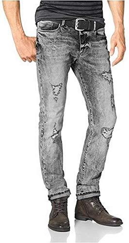 bruno banani Herren Jeans Jeanshose Bruce (W33/L34, Grey Used)