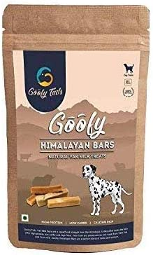 Goofy Tails Himalayan Churpi Veg Dog Treat Chew Bars, 250 g,(Extra Large, Yak/Cow Milk Flavour) Pack of 1