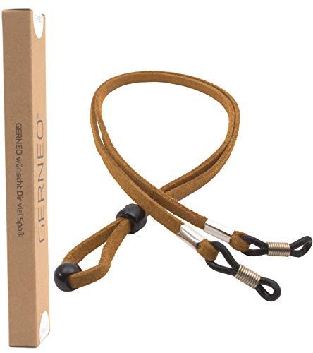 GERNEO GERNEO® - DAS ORIGINAL - Premium Brillenband in hochwertiger Wildlederoptik - hellbraun - für Lesebrille & Sonnenbrille