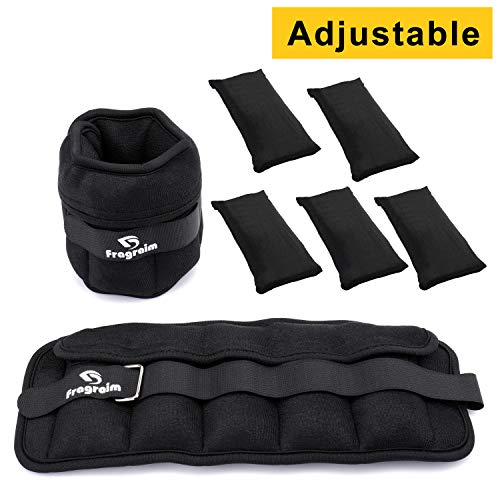 Fragraim Adjustable Ankle Weights 1-10 LBS Pair with Removable Weight for Jogging, Gymnastics, Aerobics, Physical Therapy, Resistance Training|1-5 lbs Each Pack, 2 Pack
