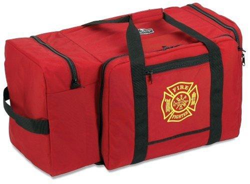 Ergodyne Arsenal 5005 Large Nylon Firefighter Rescue Turnout Fire Gear Bag with Shoulder Strap and Helmet Pocket