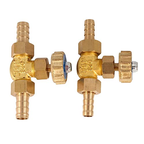 De múltiples fines 8 mm / 10 mm 1 Mpa válvula de agua ID Hose Barb Brass paralelo de presión de la aguja de la válvula for el gas Max para aceite, agua y vapor (Specification : 8mm)