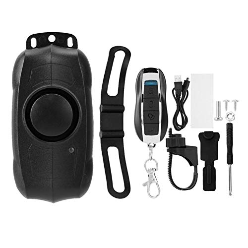 Alarma antirrobo de Bicicleta, Alarma de vibración de Bicicleta, configuración Ajustable de 5 Niveles/desarmado/pánico/Timbre de Gran Capacidad 100Db Alarma para Motocicleta Scooter