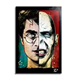 Harry Potter und Lord Voldemort - Original Gerahmt Fine Art