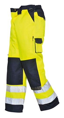 PORTWEST TX51 - Lyon Warnschutz-Hose, 1 Stück, L, gelb/marine, TX51YNRL