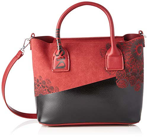 Desigual Bag 2tones Holbox Mini, Borsa a cartella Donna, Rot (Carmin),...