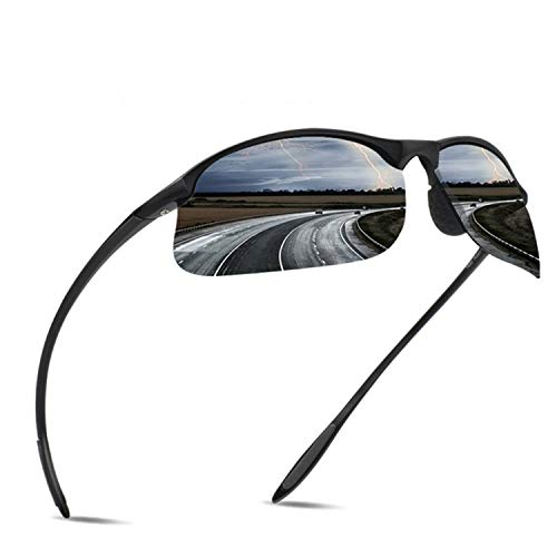 JULI Polarized Sports Sunglasses for Men Women Tr90 Unbreakable Frame for Running Fishing Baseball Driving MJ8002