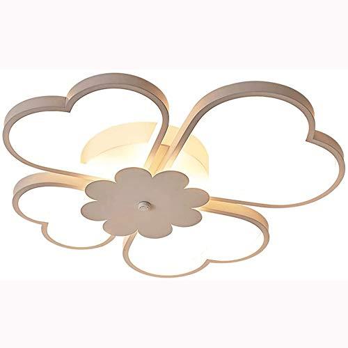 ZHANGL Habitación infantil simple y moderna LED Control remoto con forma de flor Lámpara de techo con forma de flor Personalidad creativa Comedor Comedor Clover de cuatro hojas Kindergarten Pr