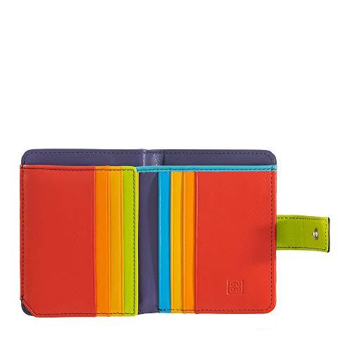 DUDU Portafoglio donna RFID piccolo di pelle colorata porta carte Nero