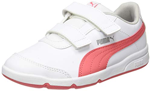 PUMA STEPFLEEX 2 SL VE V PS, Scarpe da Ginnastica, White Sun Kissed Coral, 33 EU