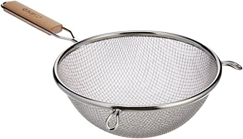 Winco MS3A-8D Strainer with Double Fine Mesh, 8-Inch Diameter