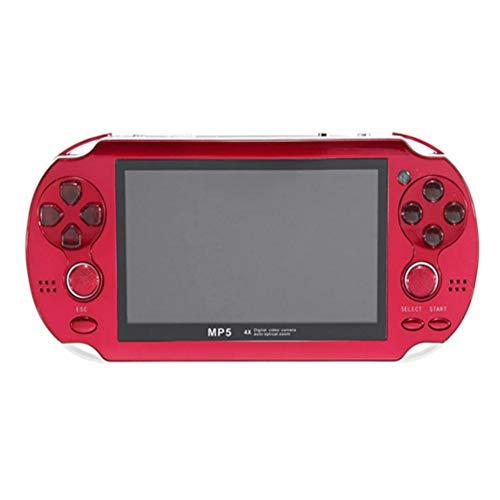 C-Funn 4,3 inch draagbaar handspel, gameconsole, 300 games, in videocamera gebouwd, Rood