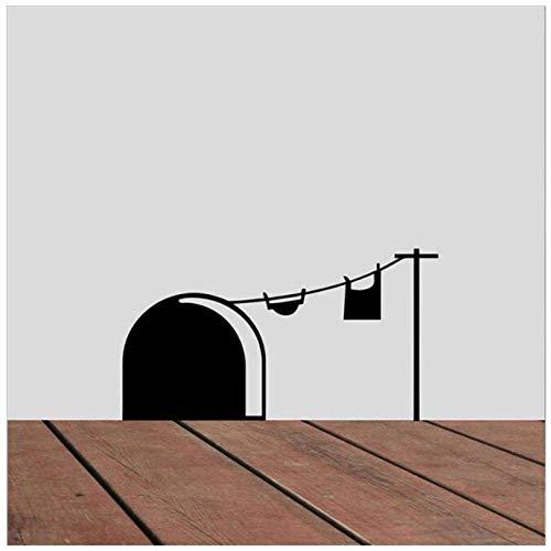 Divertidas Pegatinas De Pared Con Agujero De Ratón, Decoración De Habitación De Niños, Vinilo Diy, Pegatinas De Pared De Animales Bonitos Para El Hogar, Mural Artístico De Dormitorio De Bebé, 15X8Cm