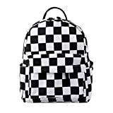 Loomiloo Durable Small Backpack for Women Polyester Mini Backpack Kids Backpack for Young Girls (lattice)