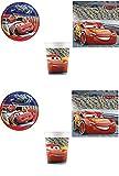 Cars - Juego de vajilla para fiesta con diseño de Cars de Rayo para 8 niños (8 platos, 8 vasos, 20 servilletas)