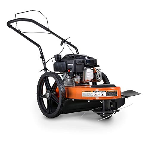 SuperHandy String Trimmer Walk Behind 21' Inch Line Cutting Diameter for Landscaping, Lawn, Garden, Fields, Farmland, Mowing, Brush Clearing Helps with Fire Prevention/Building Firebreaks