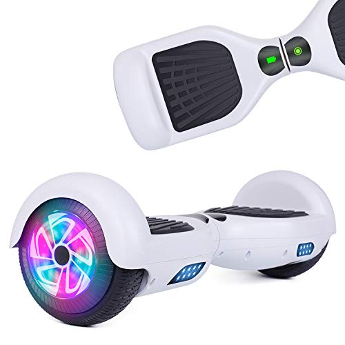 YHR Hoverboards with LED Lights UL2272 Certified 6.5 inch Self Balancing Hoverboard for Kids Adults