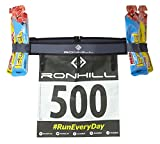 Ronhill Race Number Belt Cinturon para el Dorsal y geles Ajustable, Unisex Adulto, Charcoal/Black, O/S