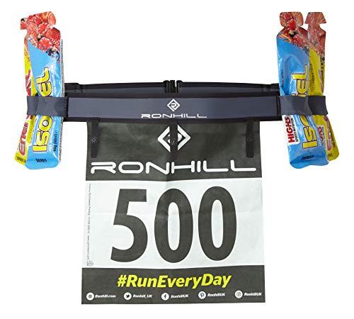 Ronhill Ceinture numéro de Course et d'entraînement Sportif pour Homme, Anthracite/Noir, OSFA