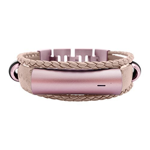 Misfit Ray Bracelet Fusion - fitjewels Leather Replacement Band - Available Colors Black, Gold and Gray (Gold, M-L (6.5-7.5 inch))