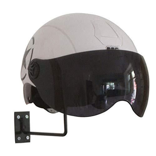 SparY Motorradhelm-Halterung, Helmhalterung, vielseitig einsetzbar, Hutständer, Helm-Display, Wandmontage, Eisen, Schwarz , Free Size