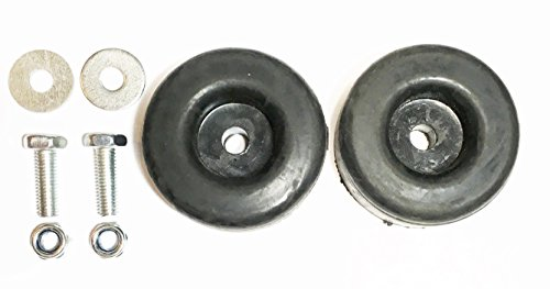 """Sellerocity Brand 2 Pack Extreme Heavy Duty Rubber Foot (Feet) Pads Anti Vibration Isolator 1"""" X 2.5"""" for Use On Pressure Washers, Generators, Compressors"""
