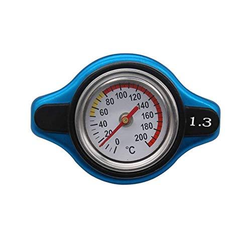 XJF Wassertank Kühlerdeckel, Auto Kleinkopf Thermostatdeckel Abdeckung Druckstufe W/Wassertemperaturanzeigeuniversal Thermo Deckel (1,3 bar)