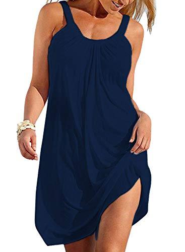 Vestidos Tirantes Mujer Cortos Tunica Playa Talla Grande Cam