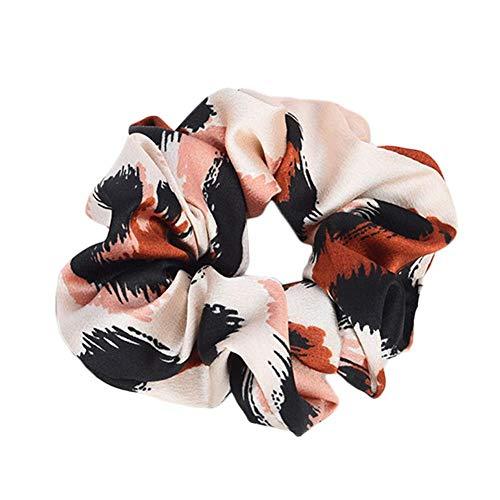 Kratai Coletero para el pelo con diseño retro de leopardo, cinta para el pelo, para niñas, color rojo, 1 pieza
