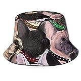 GMGMJ Bulldogs franceses sombrero de pesca sombreros cubo sombrero de sol transpirable pescador protección sombreros unisex para pesca playa senderismo camping jardinería navegación