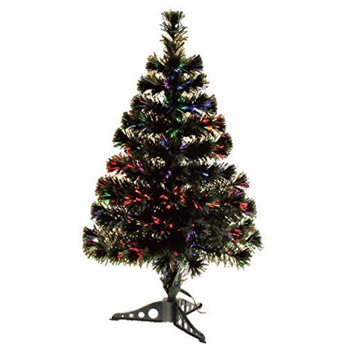 Youseexmas Albero di Natale in Fibra Ottica con luci Colorate, Altezza 80 cm,