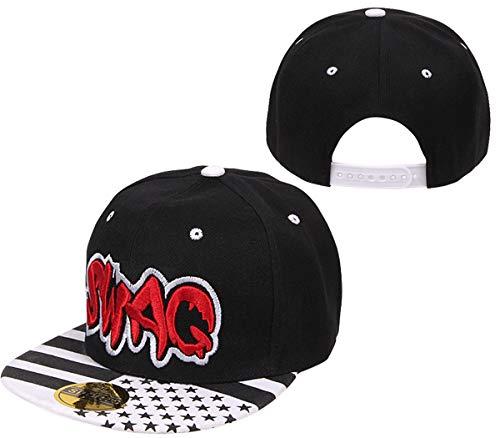 COOLMP – Juego de 12 gorras Snapback Swag negro y blanco