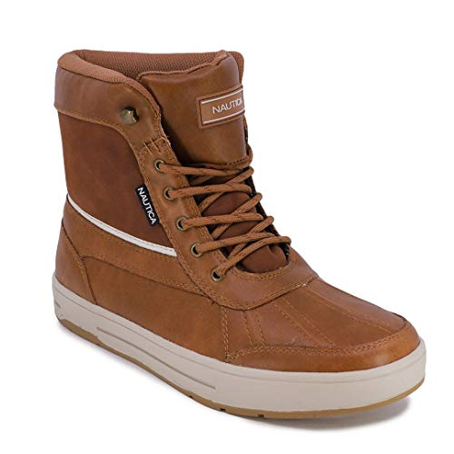 Nautica Mens Lockview Insulated Waterproof Snow Boot-Lockview-Tan 3-11