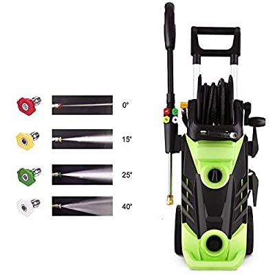 Homdox 3490PSI Electric Pressure Washer, 1800W Power Washer, 2.6GPM High Pressure Washer, Professional Washer Cleaner,4 Nozzles,HM5226(Green)