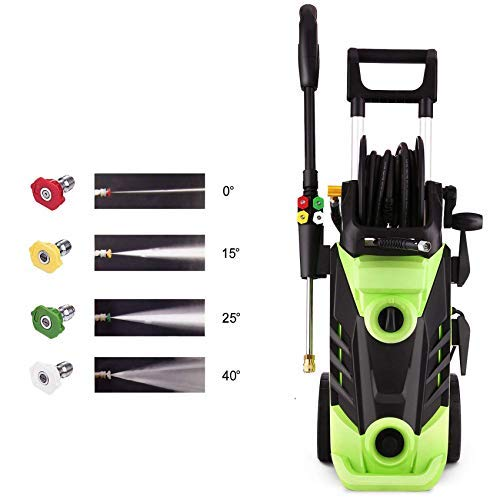Homdox 3490PSI Electric Pressure Washer, 1800W Power Washer, 2.6GPM High Pressure Washer, Professional Washer Cleaner,4 Nozzles(Green)