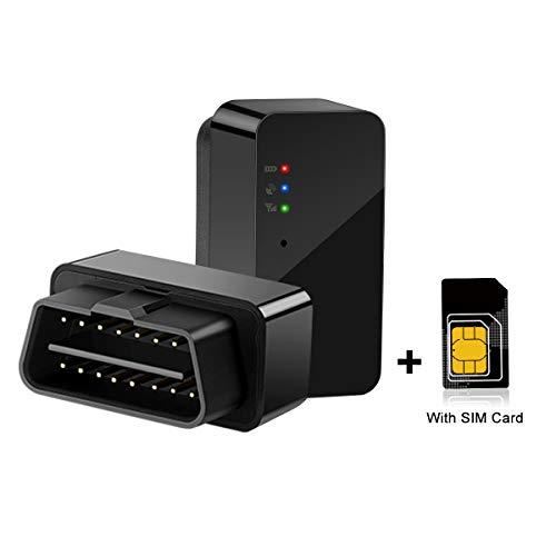 Rastreador de coche OBD GPS Tracker con SIM en tiempo real seguimiento historial de reproducción de ruta fácil de instalar en segundos alarma antirrobo con tarjeta SIM
