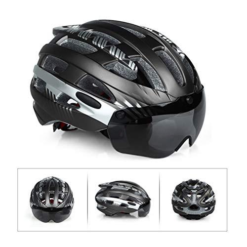 Creamon Magnetbrillen-Sporthelm, Abnehmbarer Magnetbrillen-Sporthelm, Verstellbarer Schutzhelm, schwarz