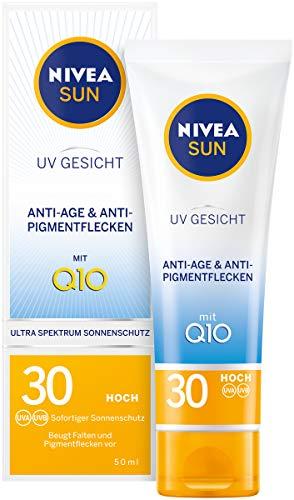 NIVEA SUN UV Gesicht Sonnencreme in 1er Pack (1 x 50 ml), Anti-Age & Anti-Pigmentflecken Sonnenschutz, leichte Gesichtscreme mit LSF 30
